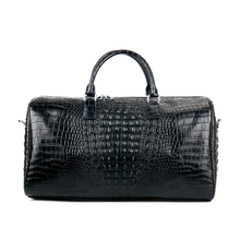 100% Genuine Leather Travel Bags Luxury Men Large Alligator