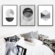 Classical Abstract Living Room Decoration Marble Posters And Prints Black and White Marbling Wall Art Picture Canvas Painting