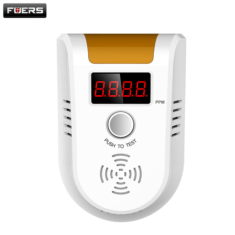 Fuers Official Store Wireless Digital LED Display Combustible Gas Detector Home Alarm System personal safe Flash Gas sensor for personal Security