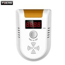 Беспроводной Цифровой СВЕТОДИОДНЫЙ Дисплей Горючий Газ Детектор Сигнализации Главная Система персональный сейф Flash датчик Газа для личной Безопасности