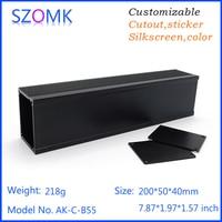 1 Piece 40 50 200mm Black Powder Coating Aluminum Amplifier Enclosure Extruded Box Szomk Aluminum Case