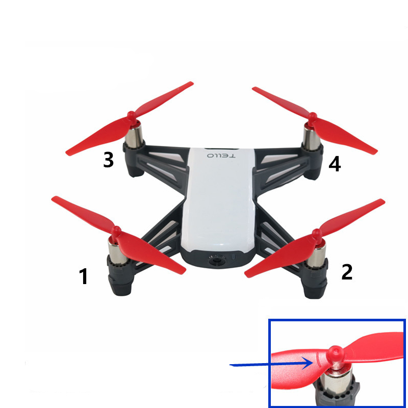 8 pairs Propeller Prop Blade Onderdelen Voor DJI Tello Drone Accessoires