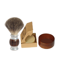 3pcs/set Badger Hair Shaving Brush Shave Soap and Bowl