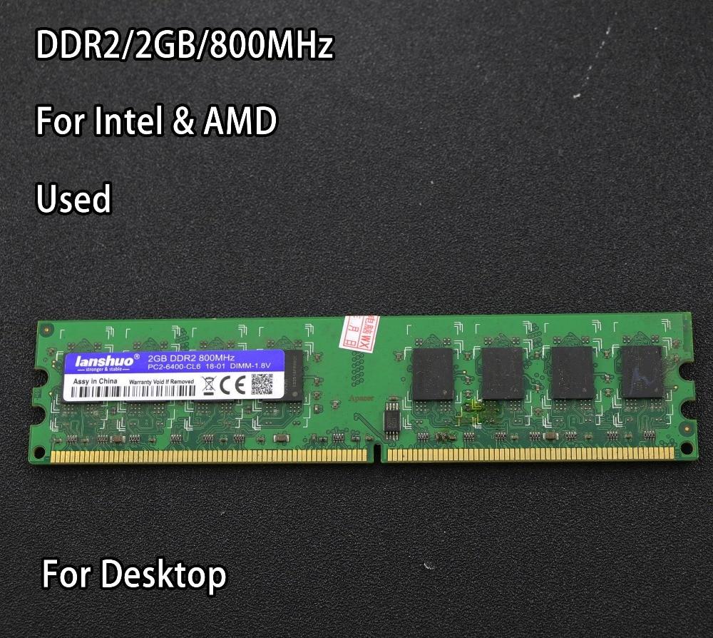 original chipset used 2GB DDR2 PC2-6400 800MHz Desktop RAM PC DIMM Memory RAM 240 pins For AMD for intel 2g 4g 800 667