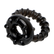 Male Stretchable Soft Rubber Dual Dick Ring Lovemaking