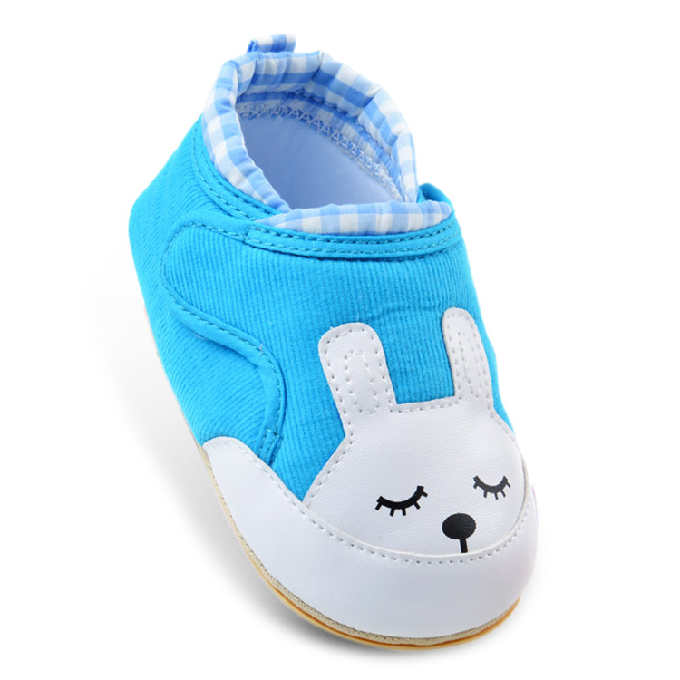 Cartoon Baby Shoes Newborn Baby Non-slip Soft Sole First Walkers Shoes Cute Rabbit Shape Magic Stick Baby Shoes