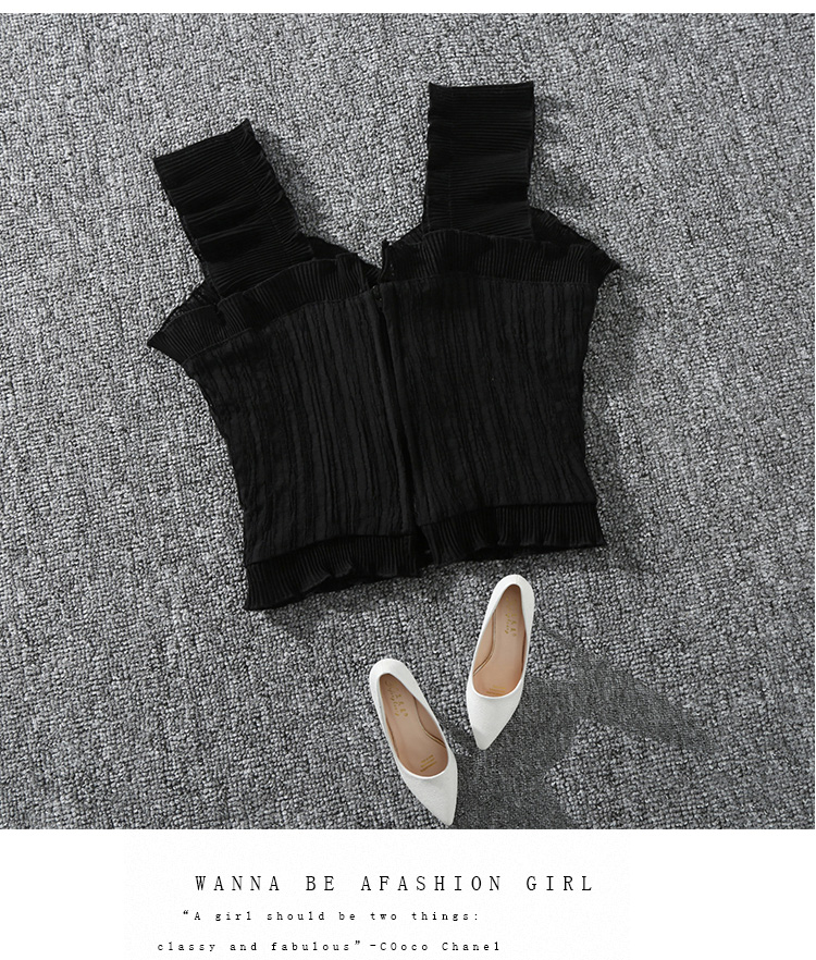 Shintimes 18 New Summer Autumn Bustier White Black Tank Top Female Sexy Bandage Sleeveless Crop Top Zipper Woman Clothes 7