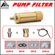 4500ps High pressure PCP hand pump air filter Oil-water Separator with Hose Female and Male connector pcp air tank M10*1 one set