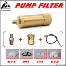 4500ps High pressure PCP hand pump air filter Oil-water Separator with Hose Female and Male connector pcp air tank M10*1 one set(China)