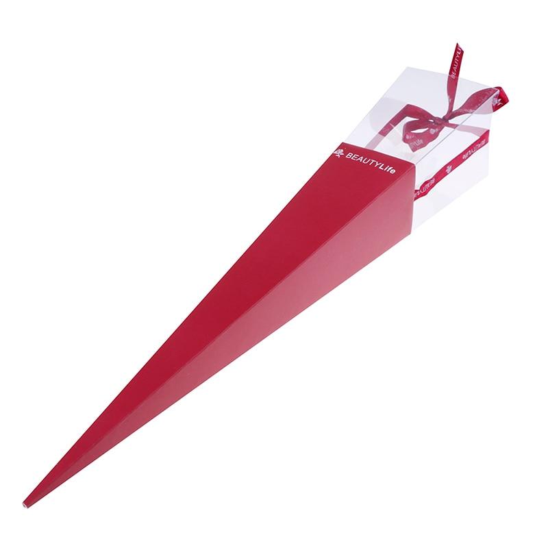 1 шт. День Святого Валентина элегантный один цветок Роза конус Свадебный декор Прямая поставка подарочная коробка - Цвет: Красный