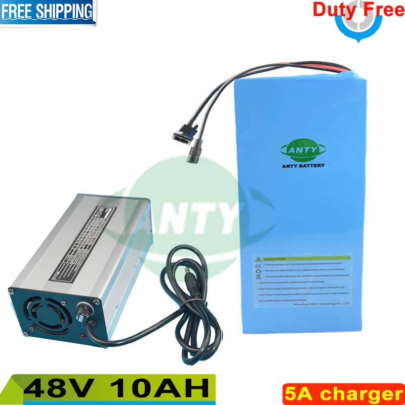 48v 10ah battery pack for electric bike with 54.6v 5A charger built-in 15A BMS ebike battery 48v Duty free and shipping free free customes taxes 48v 2000w electric bike battery 48v 35ah lithium ion battery pack for electric bike with charger bms