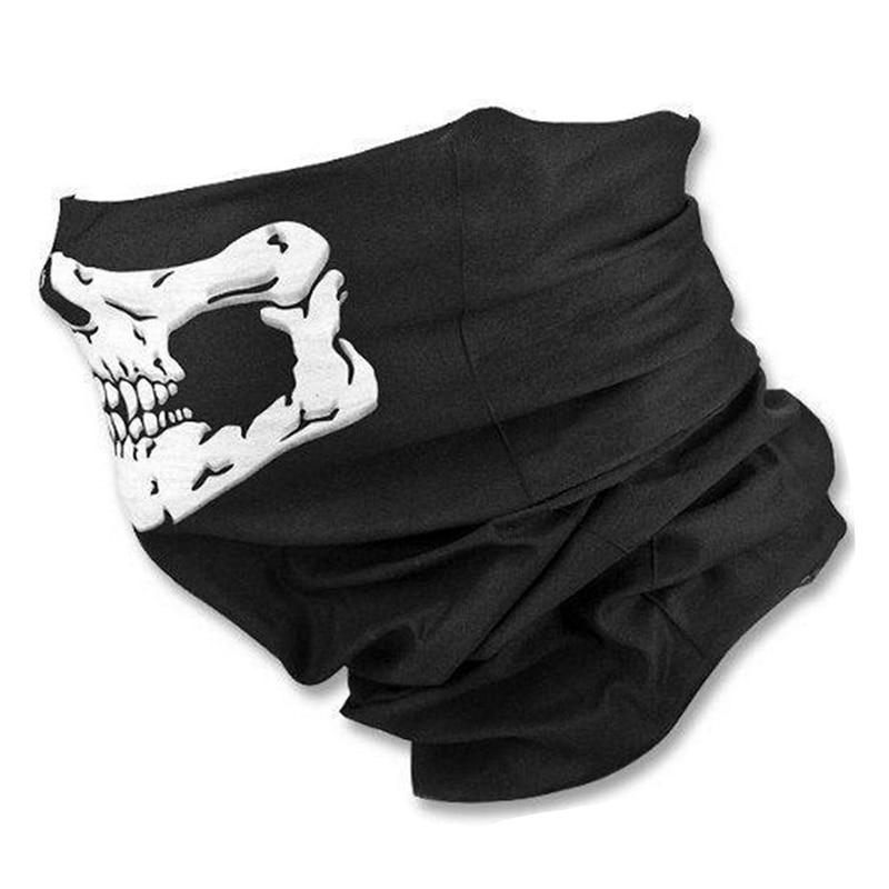 Skull Scary Motorcycle Balaclava Moto Face Mask Biker Riding Scarf Bicycle Ski Bandana Women Men Scarves Windproof Face Shield