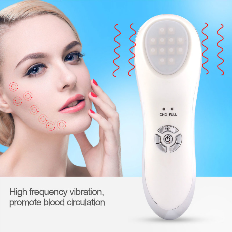 IPL Photon Ultrasound Vibration Skin Care Beauty Device Eliminate Acne Freckle Pimple Dark Age Spot Removal Anti Aging Eye Bag la goodwind ph 1 face facial beauty health skin care device ultrasound light therapy whiten anti acne pimple aging wrinkle remov