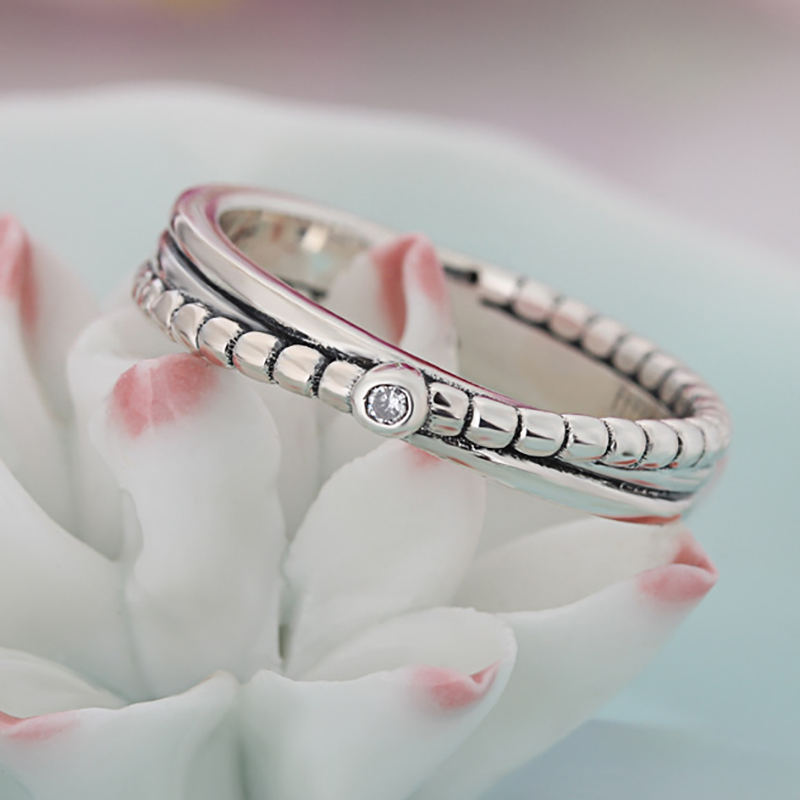 HOMOD 2018 Summer Collection Silver Color Star Twisted Statement Cross Pandora Ring For Women Engagement Jewelry Dropshipping