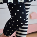 Kids Girls Dance Leggings Polka Dot Stripe Trousers Render Pants 1-9Y XL207