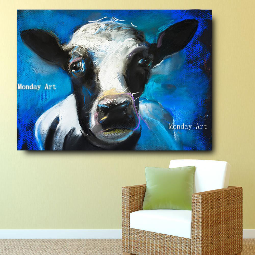1 Embelish-1-Pieces-Lovely-Cow-Face-HD-Print-Canvas-Oil-Waterproof-Painting-For-Living-Room-Large