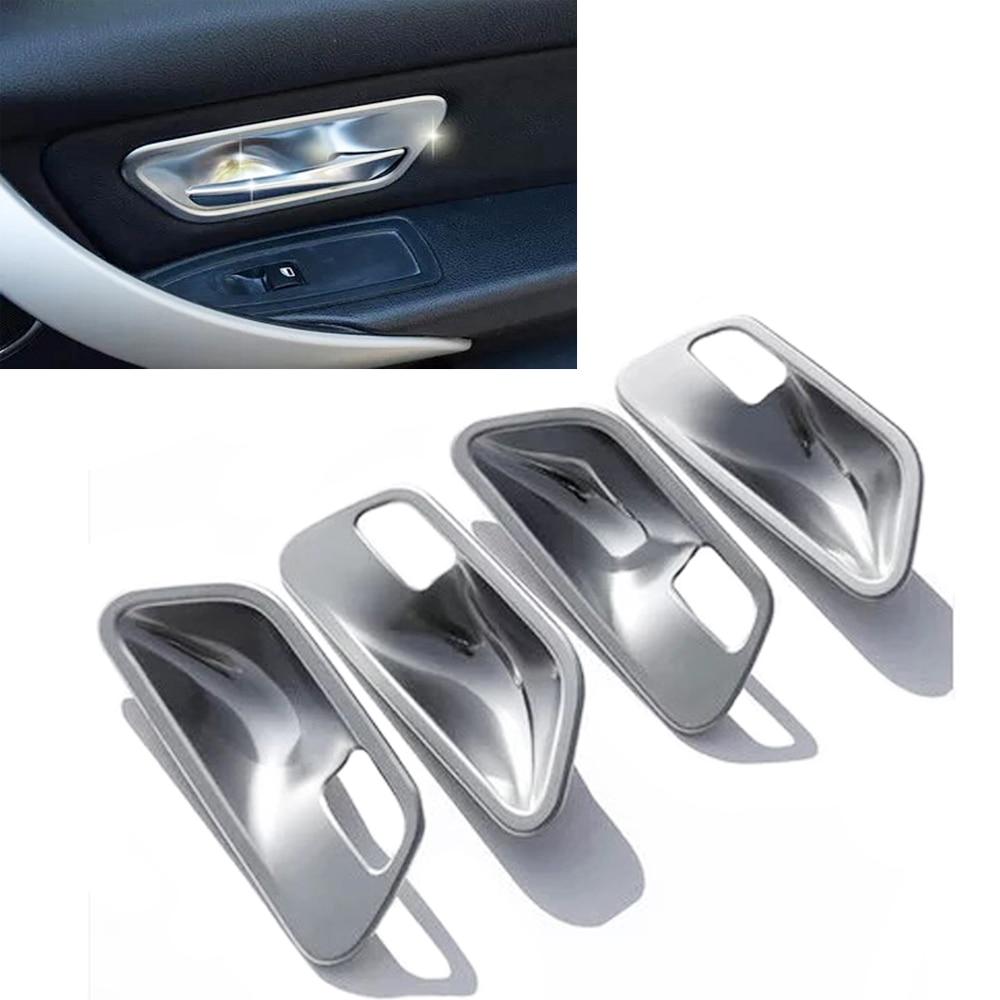 New 4x Chrome Interior Door Handle Cup Bowl Cover Trim for BMW 3 4 Series F30 F32 316i 320i 325i, 328i 330d 420i 428i полуось на bmw 316i в беларуси