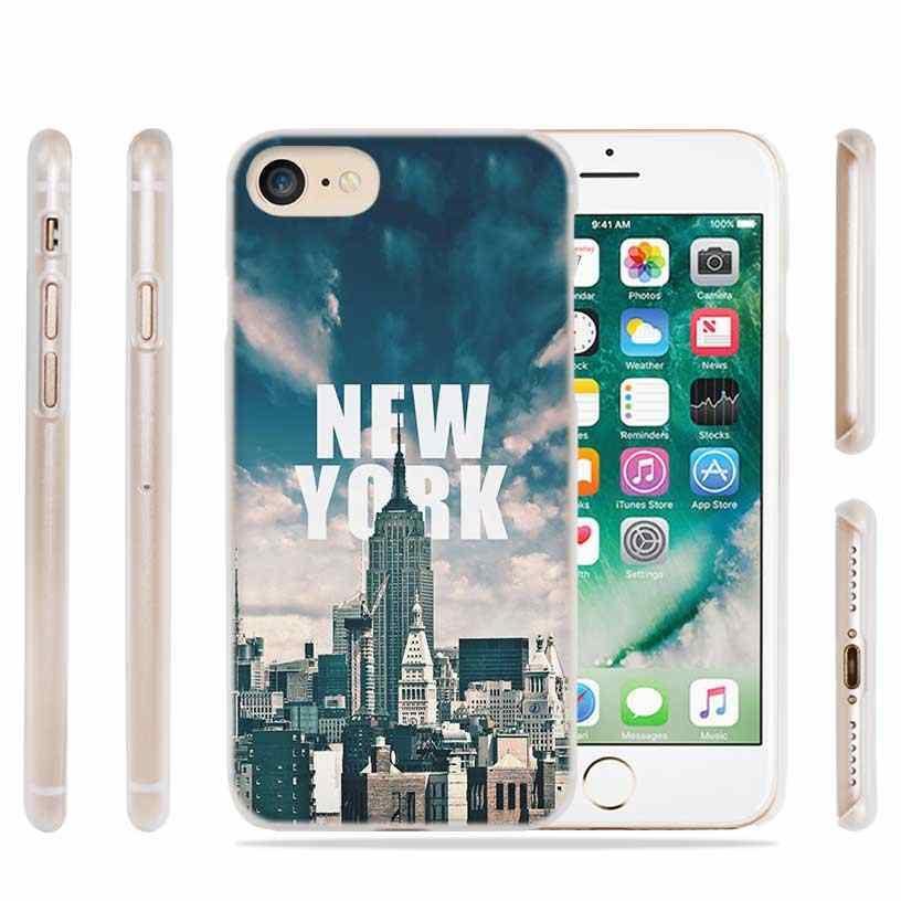 PlusNew יורק פעמים כיכר אופנה שקוף מקרה כיסוי עבור iPhone XI R 2019 XS Max XR X 4S 5S SE 6 6s 7 8 בתוספת