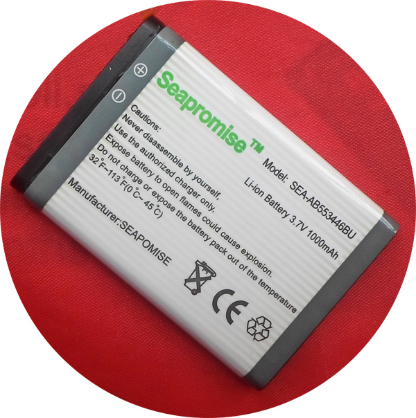 Seapromise cubierta freeshipping batería ab553446bu para Samsung gt-e3300, gt-3212, s5150, sgh-b108, sgh-cc03, sgh-l250, sgh-l258, sgh-m128