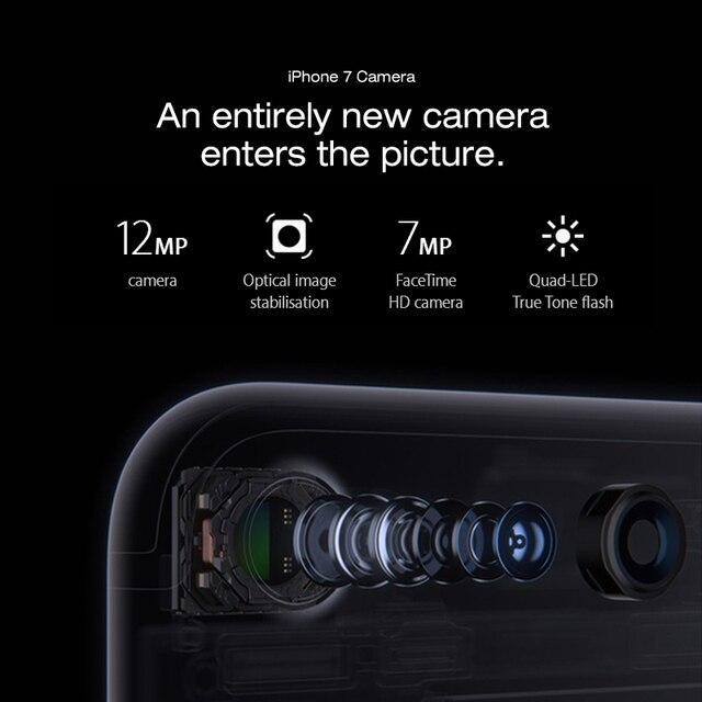 Original Apple iPhone 7 4G LTE Mobile phone IOS 10 Quad Core 2G RAM  256GB/128GB/32GB ROM 4.7''12.0 MP  Fingerprint Smartphone 4