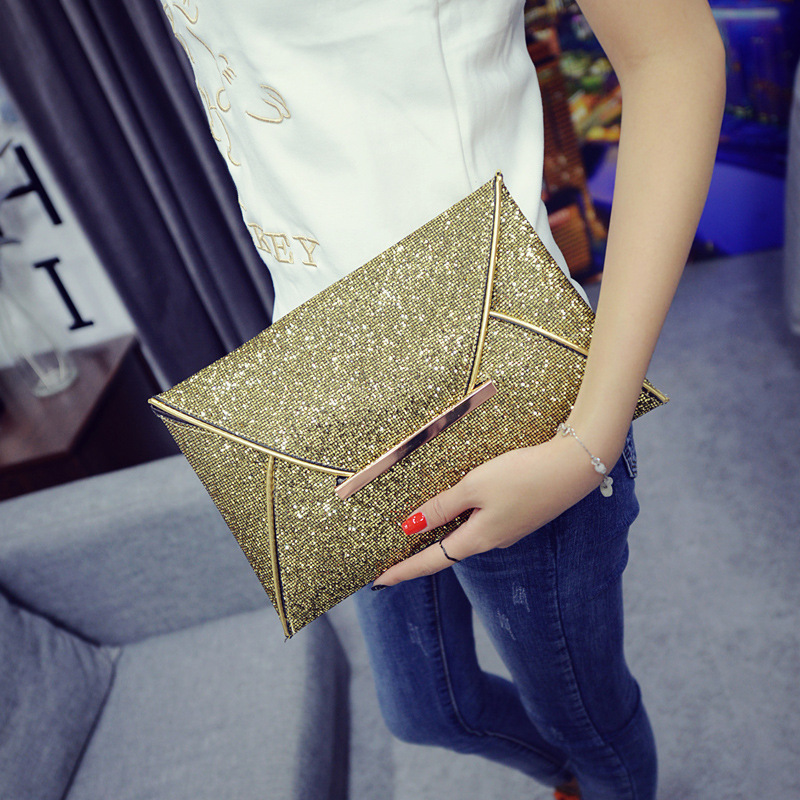 Modern Minimalist Generous Sequins Lady Hand Bag Envelope Fashion Banquet  Evening Bag Women Day Clutches Bag Purse And Handbags
