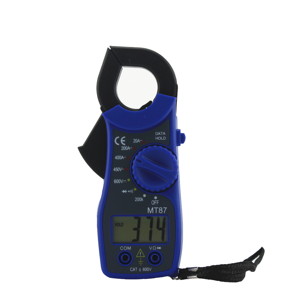 Transitor Tester MT87 Blue Digital Multimeter Amper Clamp Meter Current Clamp Pincers AC/DC Current Voltage Multimetro Tester high quality mt87 lcd auto digital multimeter electronic voltage tester ac dc clamp transistor meter diagnostic tool
