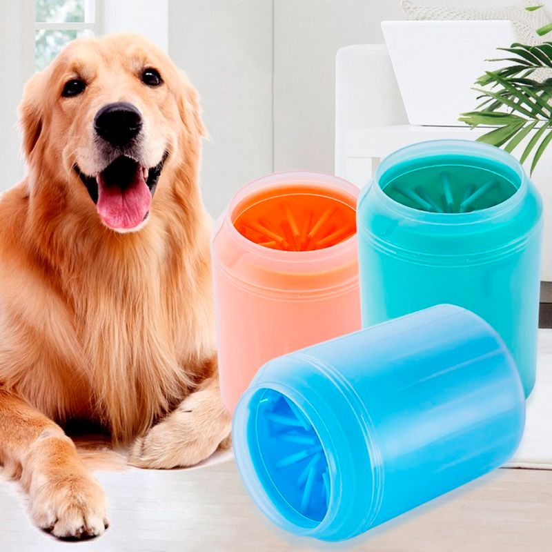 Pet Paw Cleaner Soft Brush Cup Can For Dog Puppy Cat Kitten Claw Fast Washing Device Cleaning Dirty Foot Washer Legs Clean