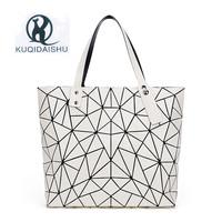 Hot Sale Bao   Bag   Folding Fashion Shoulder Handbags Mirror Geometry Women Tote Top Handle   Bag   Casual Lady Messenger   Bags