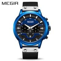 MEGIR Watch Men Sport Waterproof Mens Watches Top Brand Luxury Quartz Wristwatch Clock Hour Relogio Masculino Erkek Kol Saati