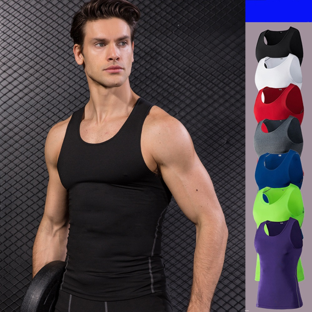 Brilliant Compression Tank Tops Stringer Bodybuilding Fitness Gym Vest Tees Undershirts Male Sports Yoga Shirt Running Vest Tops Finely Processed Sports & Entertainment Vests