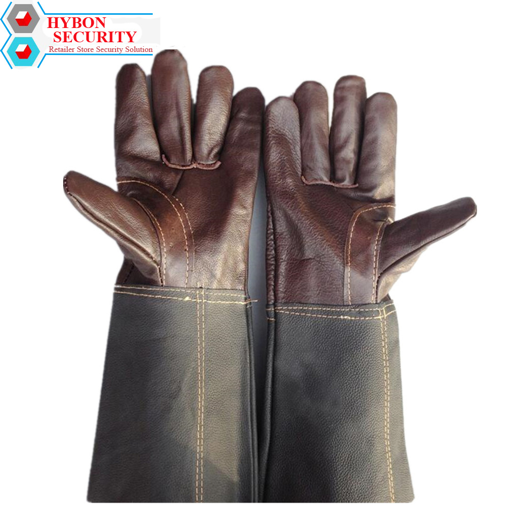 HYBON Welder's Coat Leather Mechanic Safety Gloves Cowhide Welders Argon ARC Welding Leather Gloves guantes cuero trabajo