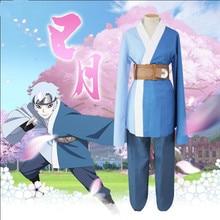 Anime Boruto Naruto the Movie Son of Orochimaru Mitsuki Kimono Cosplay Costume Full Set Yukata ( Top + Pants Belt Bag )
