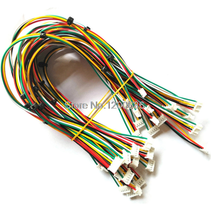 26AWG 300MM PHR-2/4/5/ PHR-6 Pin Male To Male Harness Cable 2.0MM Pitch 300MM Double Head Customization Made