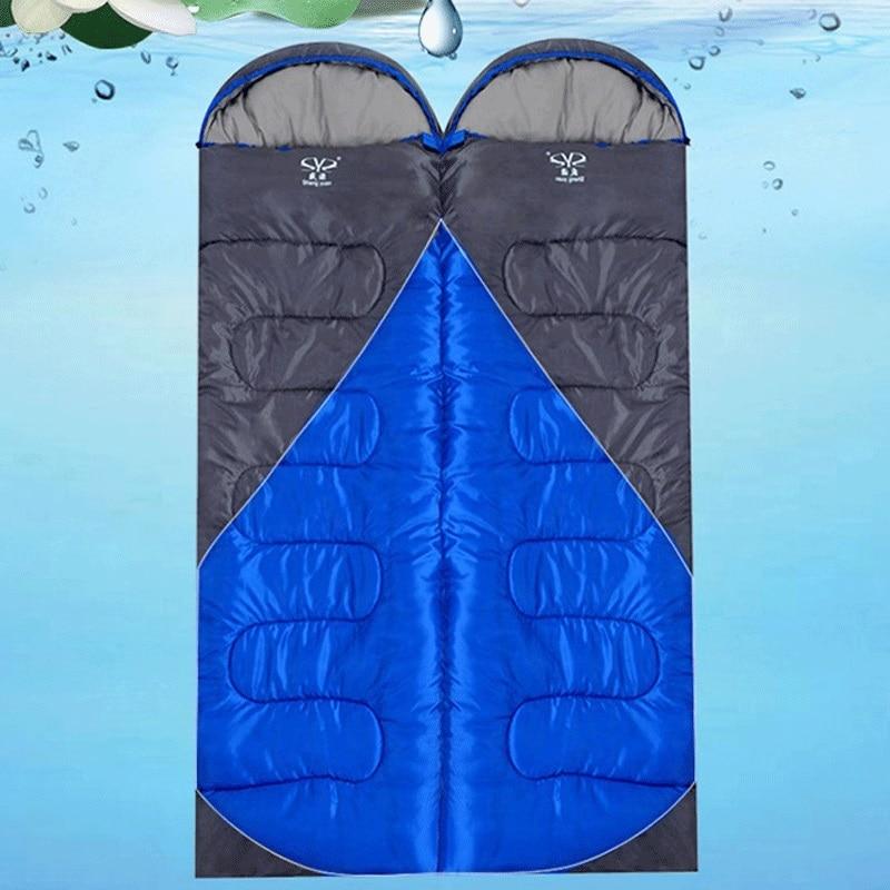1.8KG Outdoor Camping Ultralight Sleeping Bag Winter Tent Travel Waterproof Splicing Double Sleeping Bags Saco De Dormir