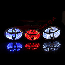 3D Car Led Logo Light Auto Badge Sticker Rear Emblem Tail Lamp for TOYOTA COROLLA/NEW CROWN/2012CAMRYS/NEW VIOS/WISH