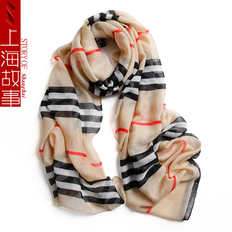 175*45 cm fashion striped bandana womens scarves polyester chiffon hijab scarf women shawls and wraps foulard femme