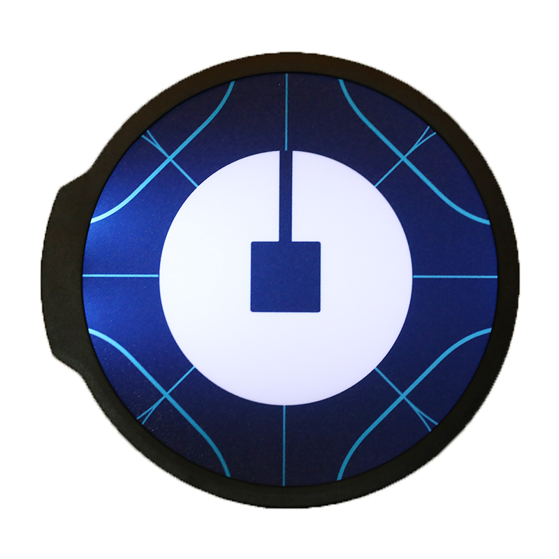 Uber Blue Bright Glowing Led Signal font b Lamp b font Sign Light Car Logo Wireless