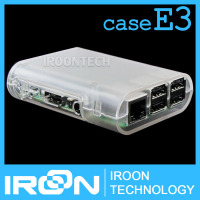 case E3: Raspberry PI 3 model B transparent Clear Case Cover Shell Enclosure Box for Raspberry PI 2 Model B and Model B+