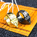 Alloy Men and Women's Self-defense Ring Jagged Pull anti-wolf windows broken outdoor escape equipment With ring necklace