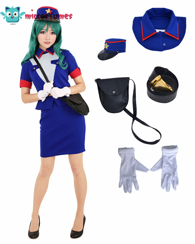 Officer Jenny Cosplay Costume Dress Woman Blue Skirt Outfits