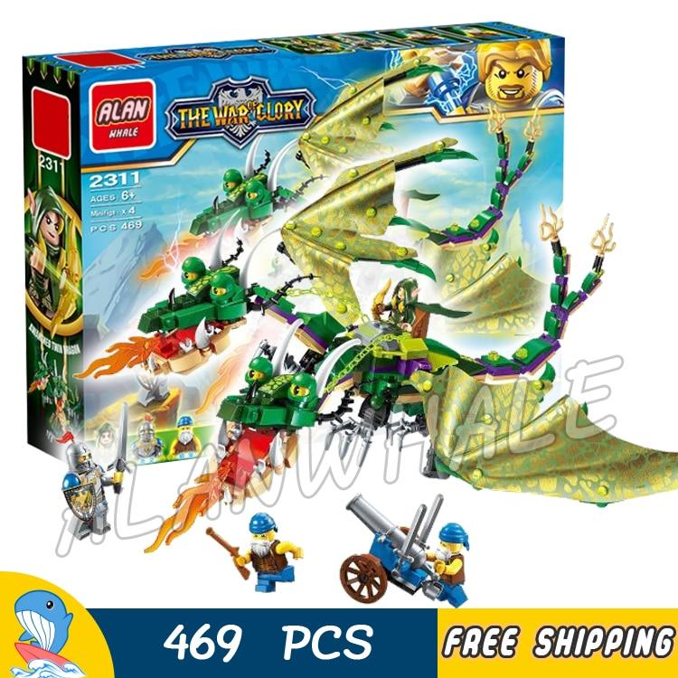 469pcs The War Human VS Elves Chimaera Twin Dragon Archer Ranger Model Building Blocks Kit Games Toys Brick Compatible with lego