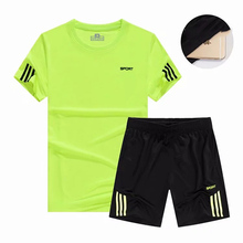 Sports suit mens summer running fitness clothes basketball football set quick-drying loose sportswear