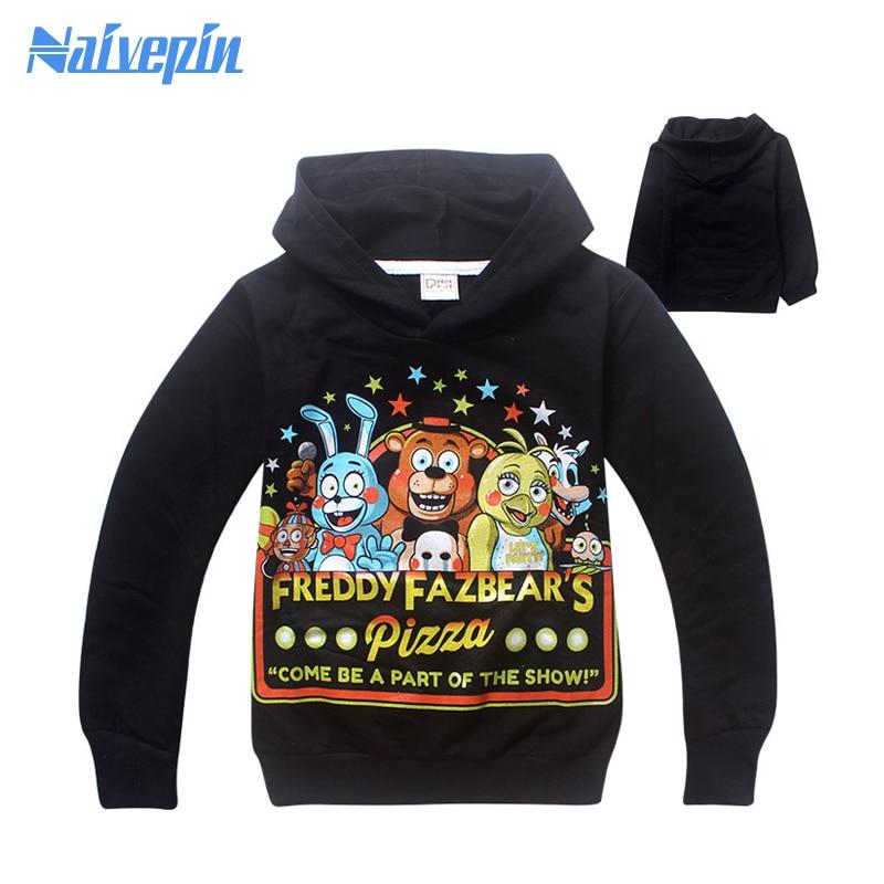 Boys Five Nights At Freddy T shirt Spring Hoodies shirt disfraces infantiles camiseta boys clothes Long sleeve Hooded sweatshirt