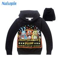 Boys Five Nights At Freddy T Shirt Spring Hoodies Shirt Disfraces Infantiles Camiseta Boys Clothes Long
