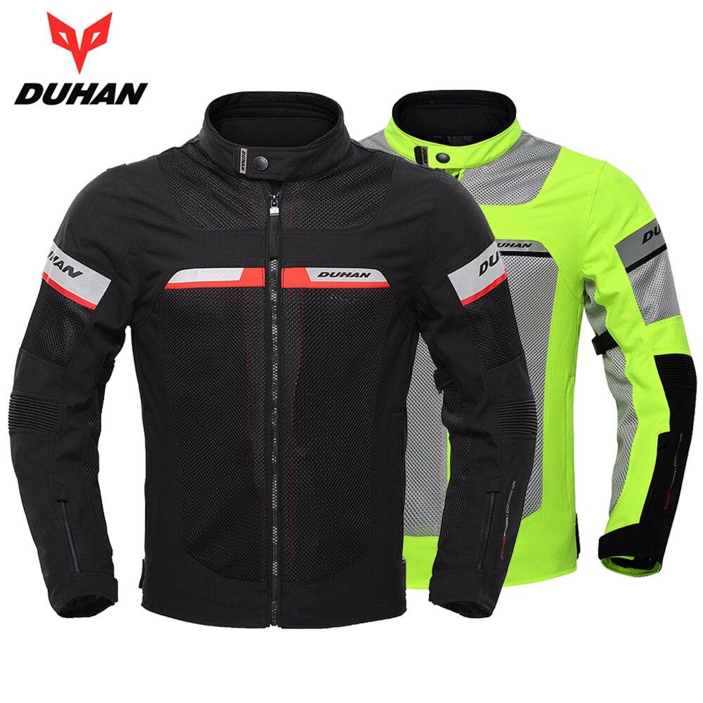 DUHAN Moto Veste Hommes Veste Moto Équipement De Protection Respirant Étanche Moto Veste Moto Vêtements pour L'été