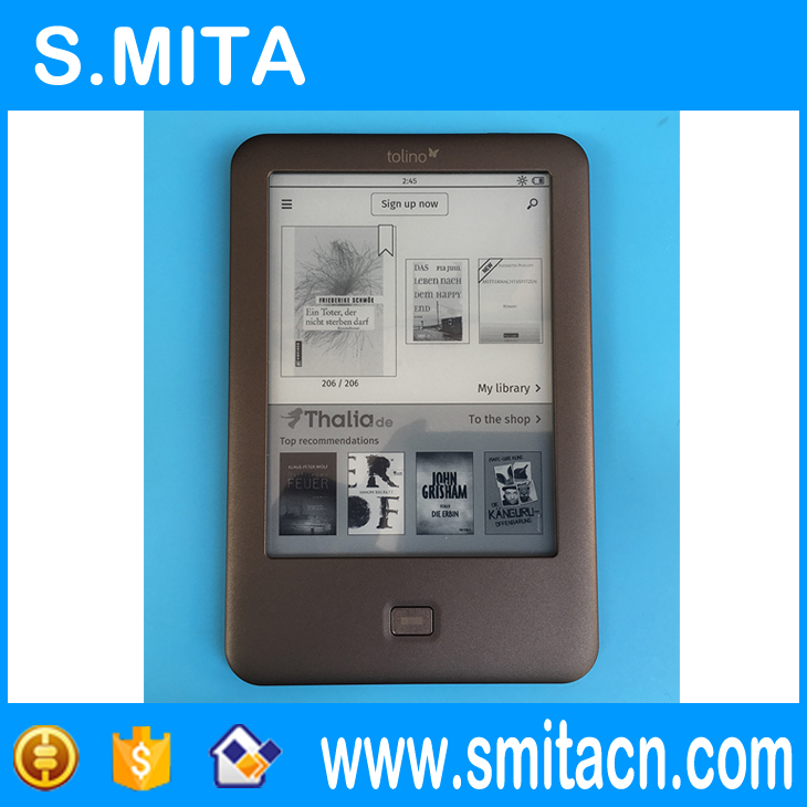 4GB Light eBook Reader WiFi e-book Tolino Shine e-ink 6 inch Touch Screen 1024x758 front light with Screen protector