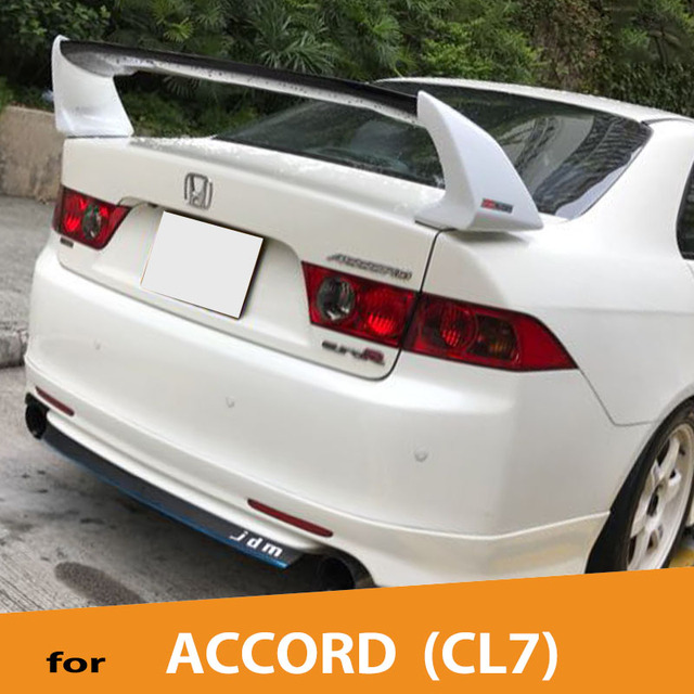 Voe Abs Plastic Sport Style Rear Spoiler For Honda Accord Euro R Cl7 2003 2004 2005 2006 2007