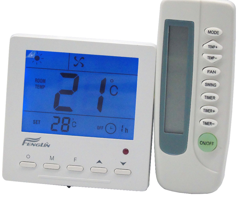 fan coil cooling/heating thermostat controller with IR remote control r134a dc compressors are constructed with integrated fan control and electronic thermostat suitable for telecom cooling