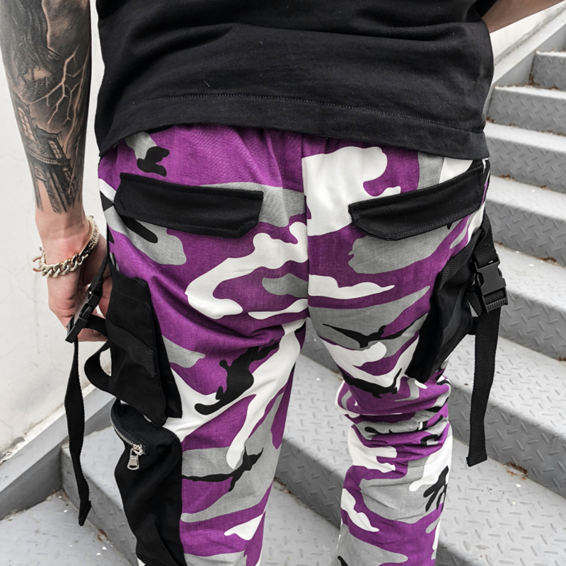 Image 5 - Novel ideas Fashion Men Camouflage Pant High Waist Hiphop Pink Camo Pant Military Pant Jogger Dance Pant US Size-in Casual Pants from Men's Clothing