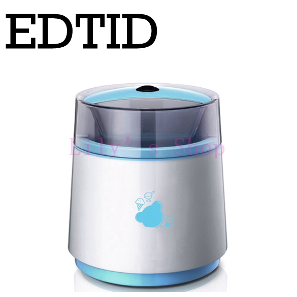 EDTID Household electric automatic Fruit ice cream machine children double layers frozen sorbet DIY Icecream Cool maker 800ml EU edtid 15kgs 24h portable automatic ice maker household bullet round ice making machine for family small bar mini coffee shop